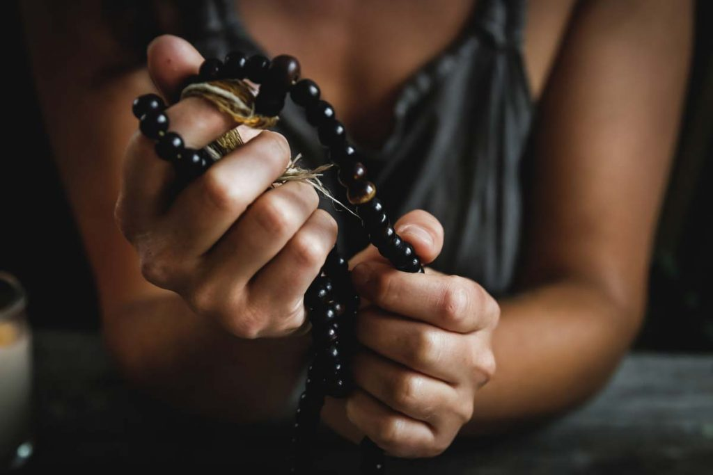Holistic Life Coach - meditation with mala beads