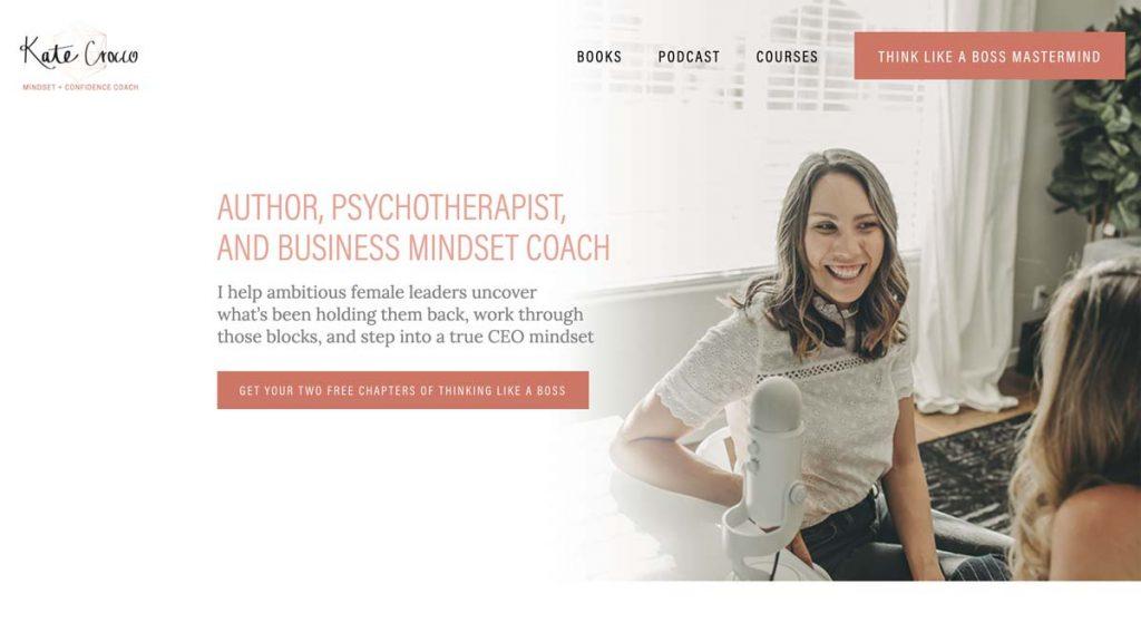 Kate Crocco - Mindset & Confidence Coach - Squarespace website