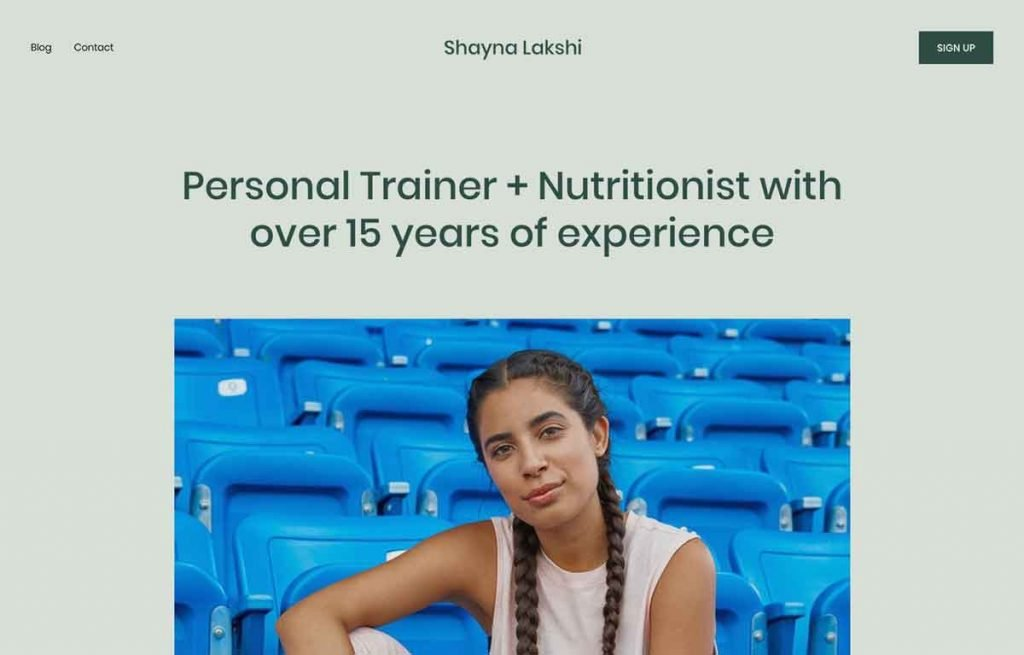 Lakshi - Personal Trainer & Health Coaching Squarespace Template